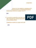 Physics Homework 2.9 Q's