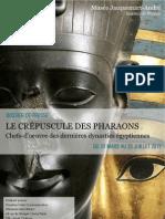 La Crépuscule des Pharaons - dossier de presse