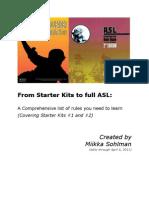 Sohlman - From Starter Kits to Full ASL - (SK