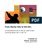 Sohlman - From Starter Kits to Full ASL - (SK