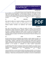 Pasos Para Implementar Un Sistema de Gestion de Calidad Basado en La Norma Internacional Iso 9001