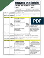 Programa.horario.curso Fundacion Arriaran 2012