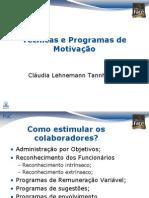 tecnicas e programas de motivação