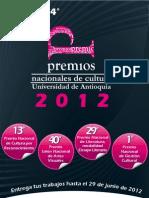 Premios Nacionales de Cultura - Universidad de Antioquia