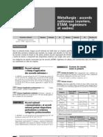 Métallurgie (accords nationaux  ouvriers, ETAM, ingénieurs et cadres)
