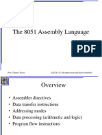 The 8051 Assembly Language