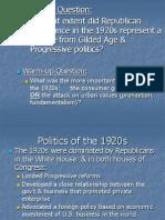 1920 Politics