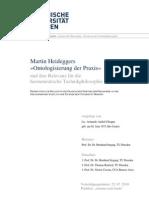 Heidegger Ontologisierung Der Praxis