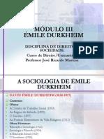 Modulo III Durkheim