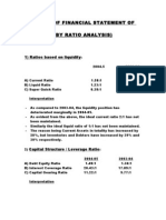 Analysis of Financial Statement of Bhel