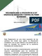 Reglamento Ley Control Mercado, presentación rueda de prensa