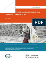 Monitoring and Evaluation Impact