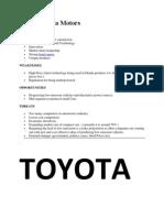 SWOT Honda Motors