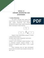 MODUL 14 Variabel Moderating Dan Intervening