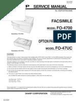 Sharp Fax FO-4700 Parts & Service
