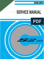 Daelim s2 125 Service Manual