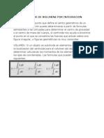 Centroide de Volumene Por Integracion