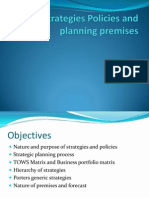 Strategies Policies a Planning Premises