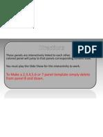 PowerPoint Template Animated - Oito Painéis Interactivos