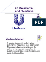 Unilever Mission Statement and Objectives