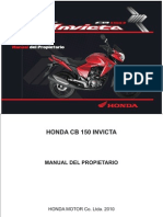Manual Honda Cb 150 Invicta