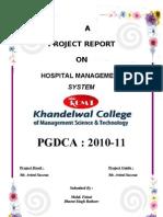 Hospital Management Report