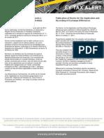 Tax Alert - Normas relativas a la aplicación y registro de ganacias y-o pérdidas cambiarias