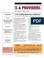 Payers & Providers Midwest Edition – Issue of April 24, 2012