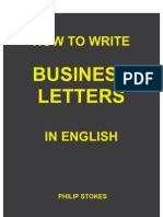 4931211 How to Write Business Letters in English