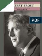 Robert Frost Bloom 039 s Modern Critical Views