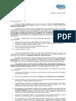 Carta de Postulación 2012