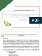 Orientaciones Tic 2008-2009