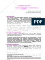 EL FEMINICIDIO EN EL PERÚ Julio Cesar Orellana Huamanñahui