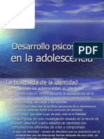 Adolescencia Desarrollo psicosocial