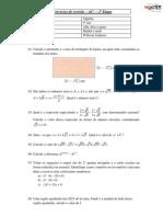 Exercícios de revisão - AC1 - 2ª etapa - Álgebra - 9º ano - Alfa, beta e gama - Profº Wilkson Linhares