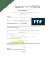 Primer Parcial Cálculo III, 18 de abril de 2012