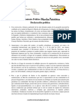 Declaración Política del Movimiento Político Marcha Patriótica