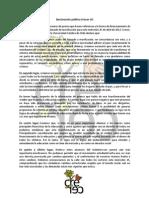 Declaración pública Crecer UC