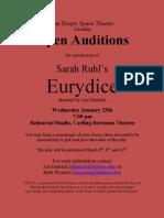 Eurydice Auditions Flyer