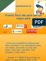 Campaña de lectura de Puerto Rico.Puerto Rico Lee para Ser un Mejor País