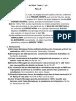 Act Final Historia de Venezuela Tema 6 y 7