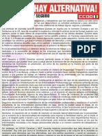 Manifiesto CC.oo. 2012 y Actos Canarias
