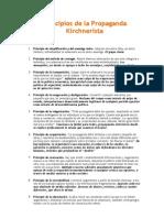 Principios de La Propaganda Kirchnerista
