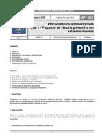 NPT 001-11-ProcedimentosAdministrativos Parte1-Processo de Vistoria Preventiva Em Estabelecimentos