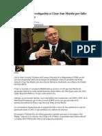 CNM ordena investigación a César San Martin por fallo a favor de banco