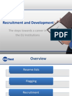 Recruitment, Career and Development
