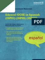 Edexcel GCSE 2009 Spanish - SAM
