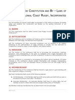 Colonial Coast Rugby Constitution Updated 04-24-2012