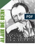 ---Mas Alla de La Derecha y La Izquierda Alain de Benoist