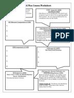 Worksheets Causes Of The Civil War Worksheet civil war causes worksheet